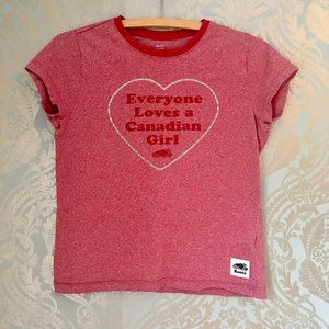 Roots Everyone Loves a Canadian Girl Tee Graphic